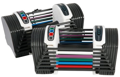 PowerBlock SportBlock 2.4 Adjustable 3 to 24-Pounds per Dumbbell Set