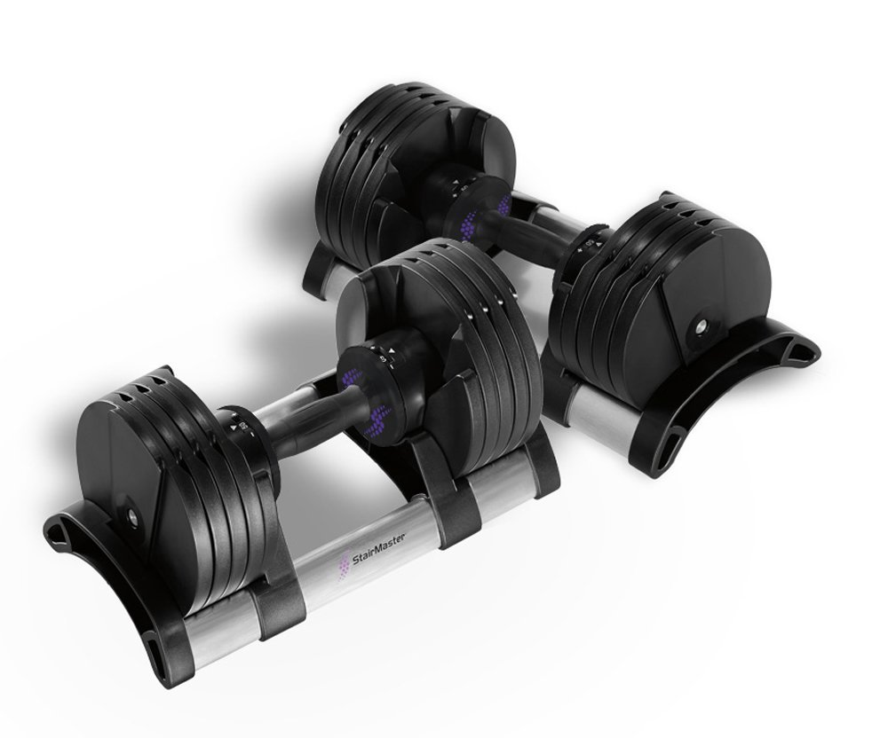StairMaster Pair of TwistLock Adjustable Dumbbells (100 Pounds)