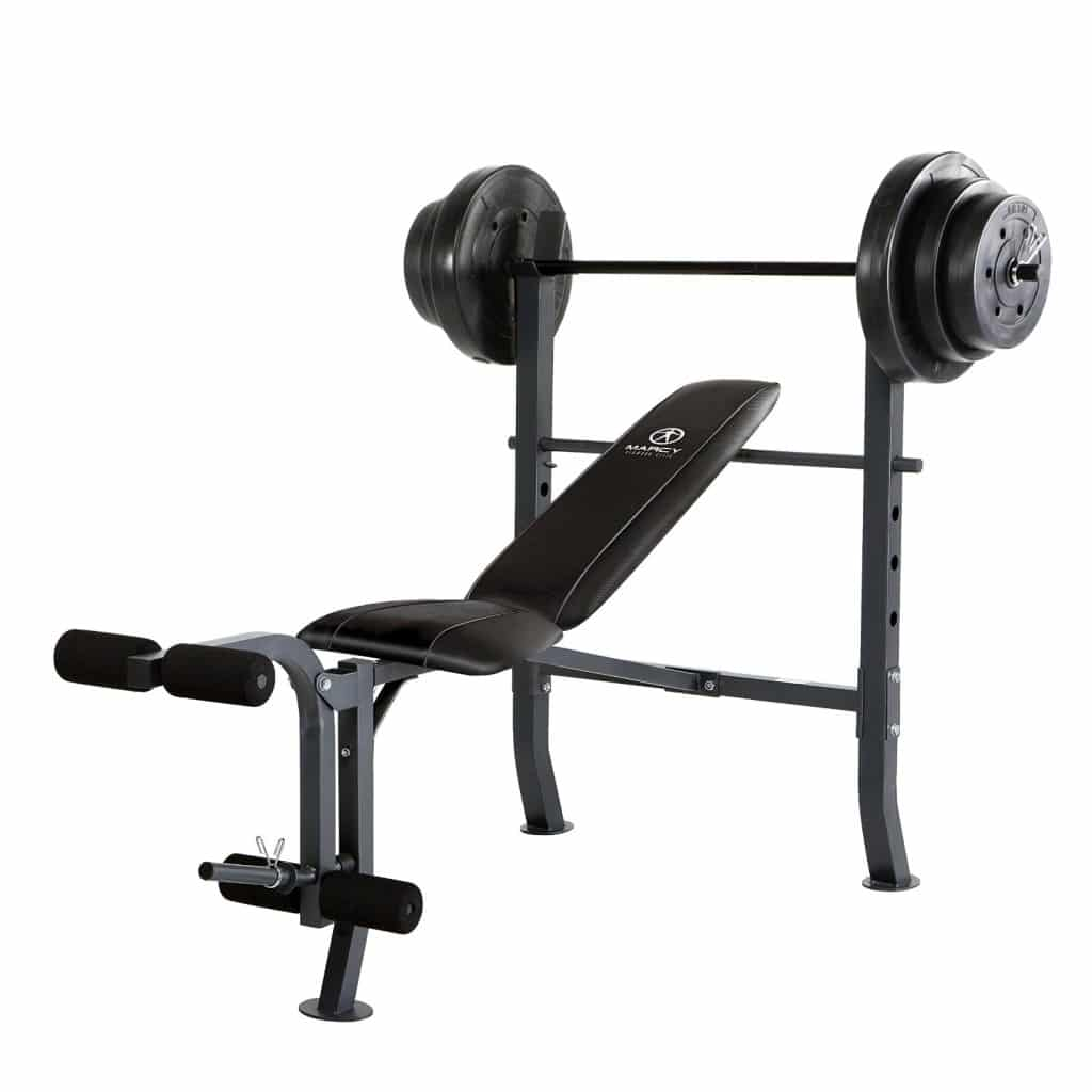 Marcy Diamond Mid-Width Bench and 100-Pound Weight Set