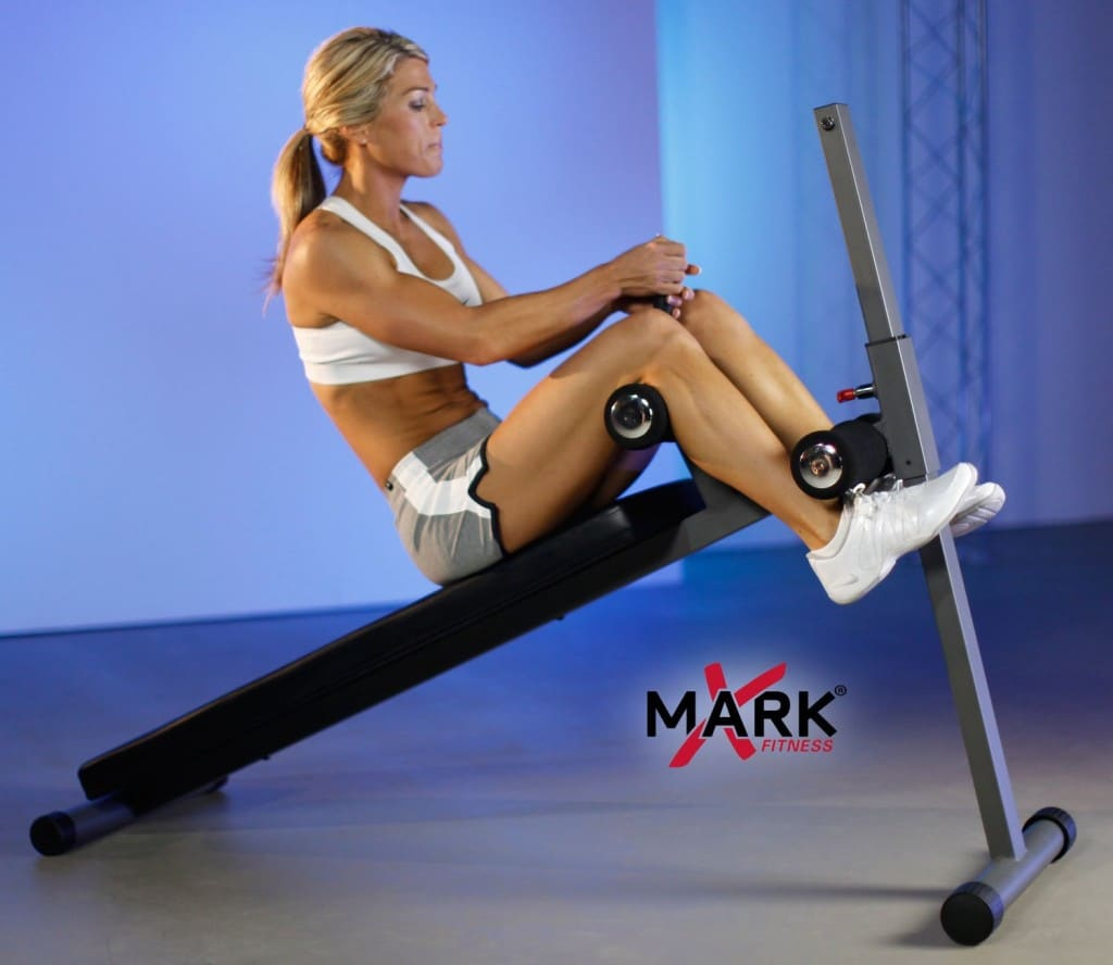 XMark 12 Position Ergonomic Adjustable Decline Ab Bench XM-4416