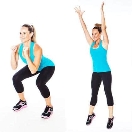 Squat Jump exercise for women